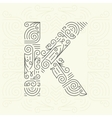 Letter K Golden Monogram Design element vector image vector image