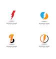 lightning thunderbolt electricity logo design vector image