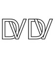 logo vd and dv icon sign two interlaced letters v vector image vector image