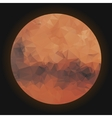 Low poly planet Mars vector image