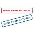 Made From Natural Rubber Stamps vector image vector image