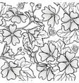malva seamless pattern vector image vector image