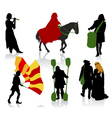 medieval people vector image