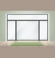 meditation or yoga room interior big glass wingow vector image