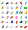 mobile program icons set isometric style vector image