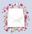 paper cut craft style valentines day love letter vector image
