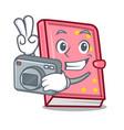 photographer diary mascot cartoon style vector image