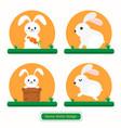 rabbit icon bunny icon design vector image