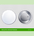 realistic mockup badge transparent icon set vector image vector image