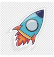 Rocket icon Object to website vector image vector image