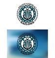 Sailor label or badge with anchor and lifebuoy vector image vector image