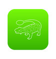 scolosaurus icon green vector image