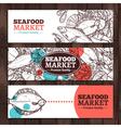 Seafood Market Sketch Design vector image