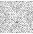 Seamless asian ethnic black and white pattern vector image vector image