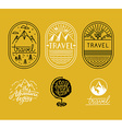 set linear badges in trendy linear style vector image vector image