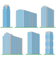 set of six modern high-rise building vector image vector image