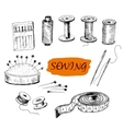 Sewing Set of vector image vector image