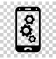smartphone settings icon vector image