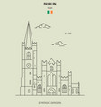 st patricks cathedral in dublin vector image