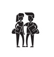 student couple black concept icon student vector image