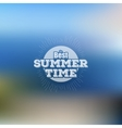 Summer time poster web and mobile vector image