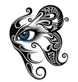 tattoo eye vector image vector image