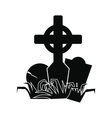 Tomb icon black vector image vector image