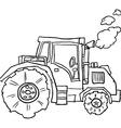 tractor doodle vector image