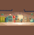 underground bunker empty bomb shelter control room vector image vector image