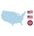 united states map stylized composition of cloud vector image