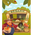 Vegetable stall outdoors vector image