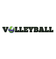 Volleyball Word Art vector image