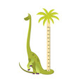wall meter with tall dinosaur sticker vector image vector image