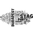 why not a stag party in budapest text word cloud vector image