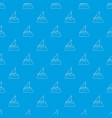 yacht pattern seamless blue vector image