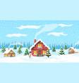 year winter landscape vector image vector image
