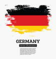germany flag with brush strokes vector image