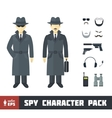 Spy Character Pack vector image