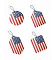 flag usa labels vector image