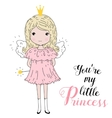 a Cute Little Girl vector image