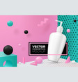 abstract scene with text dispenser bottle vector image vector image