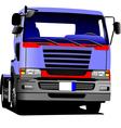 al 0549 truck vector image vector image