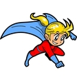 Anime Manga Girl Superhero vector image vector image