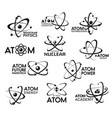 atom nuclear physics and molecular technology vector image