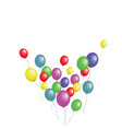 balloons group isolated graphic design vector image vector image