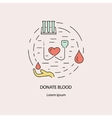 Banner with blood donation symbols vector image