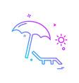 beach icon design vector image vector image