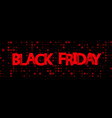 black friday sale red geometric promotion banner vector image vector image