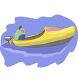 boat klomp vector image vector image