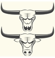 bull s head and skull vector image vector image